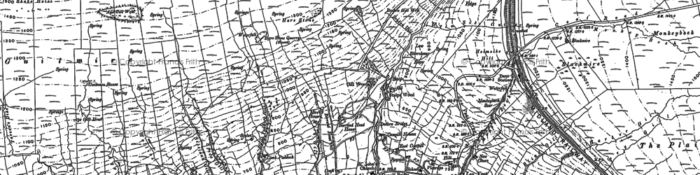 Old map of Whernside Tarns in 1907