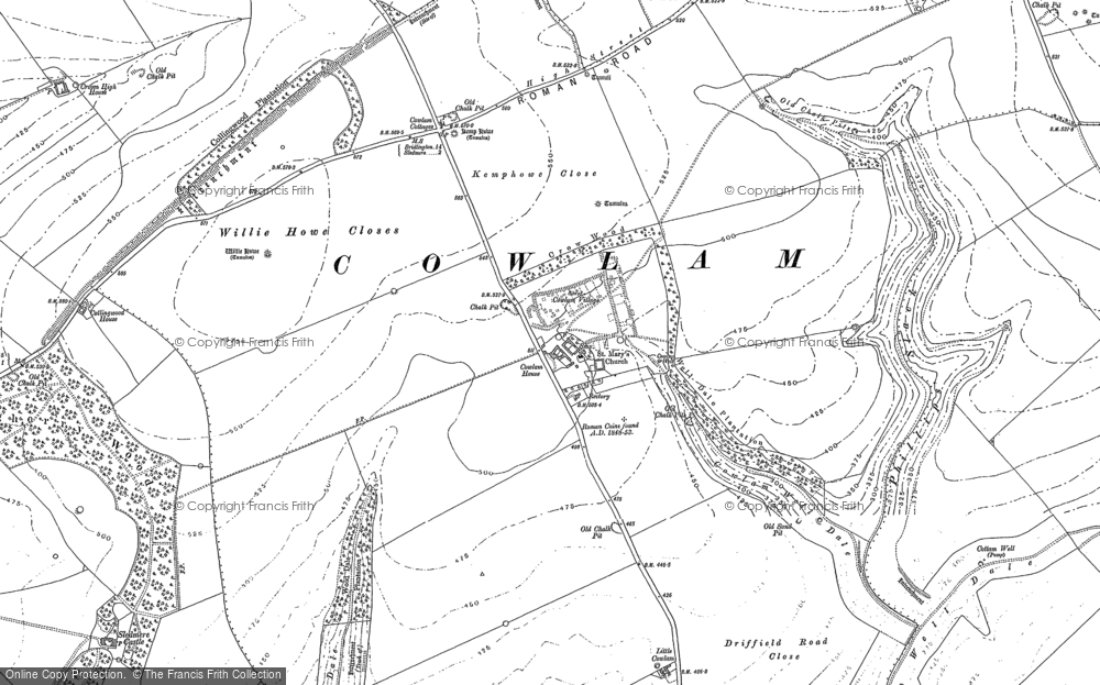Old Map of Historic Map covering Wood Dale Plantn in 1888
