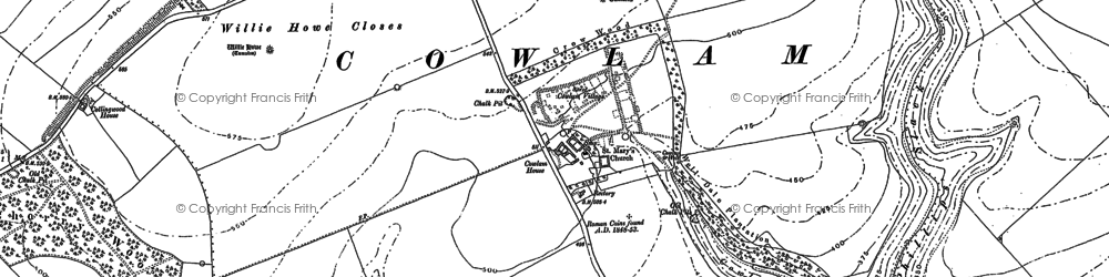 Old map of Wood Dale Plantn in 1888