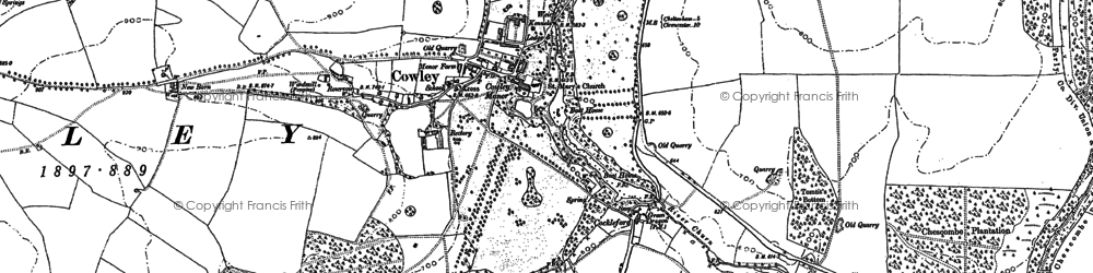 Old map of Cowley in 1883