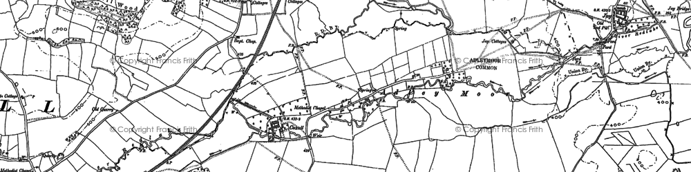 Old map of Adley Moor in 1902