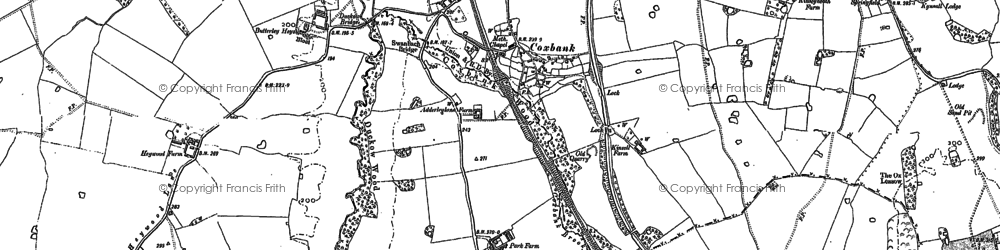 Old map of Lightwood Green in 1879
