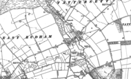 Old Map of Coxford, 1885