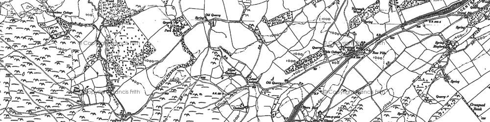 Old map of Lanlluest in 1887