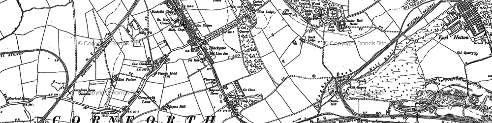 Old map of Coxhoe in 1896