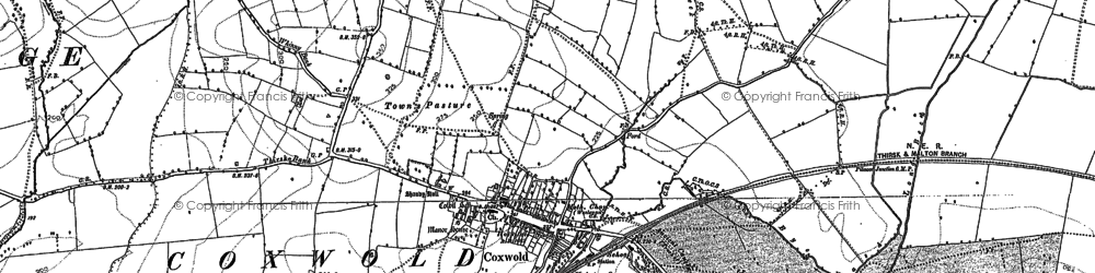 Old map of Coxwold in 1890