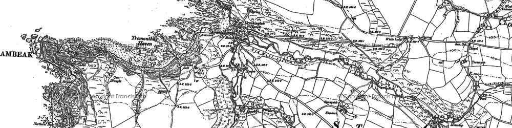 Old map of Higher Crackington in 1883