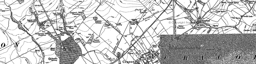 Old map of Cracoe in 1907