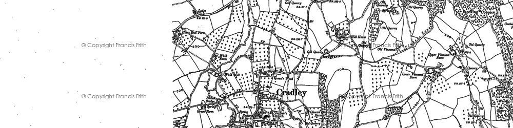 Old map of Westfield in 1885