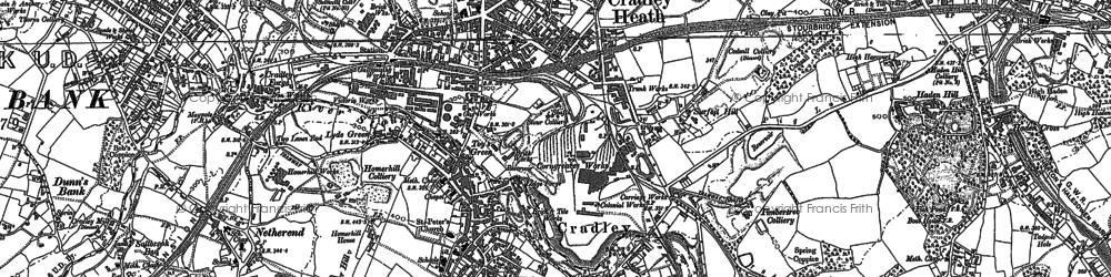 Old map of Cradley Heath in 1901