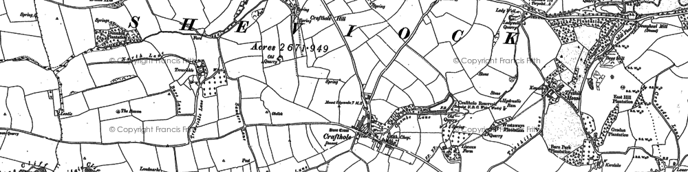 Old map of Crafthole in 1883