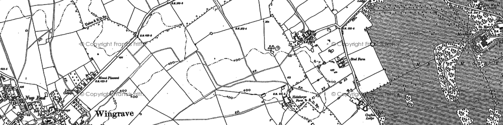 Old map of Crafton in 1898