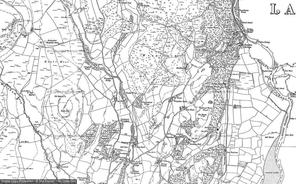 Old Map of Historic Map covering Ash House in 1898