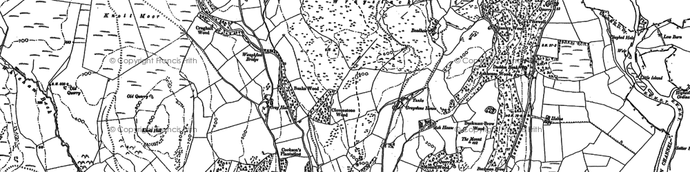 Old map of Ash House in 1898