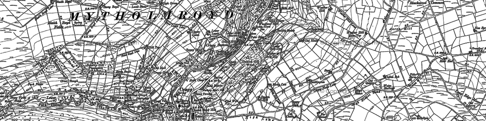 Old map of Aaron Hill in 1892