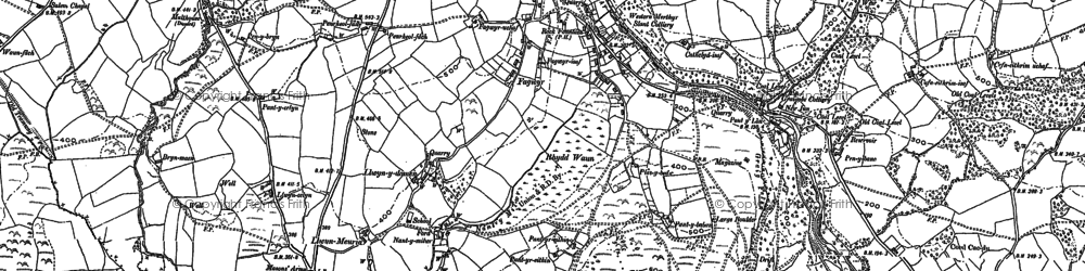 Old map of Craig-cefn-parc in 1897
