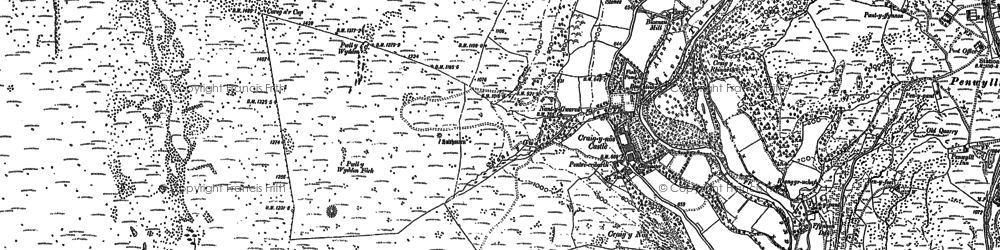 Old map of Craig-y-nos in 1884
