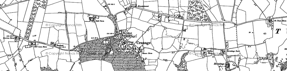 Old map of Cranage in 1897