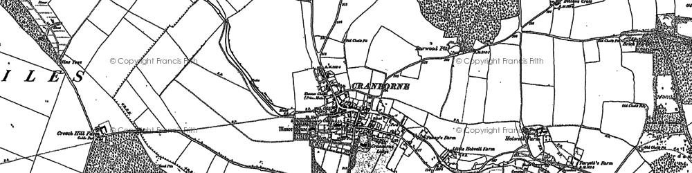 Old map of Toby's Bottom in 1900