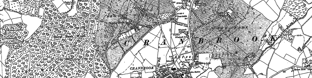 Old map of Angley Ho in 1870