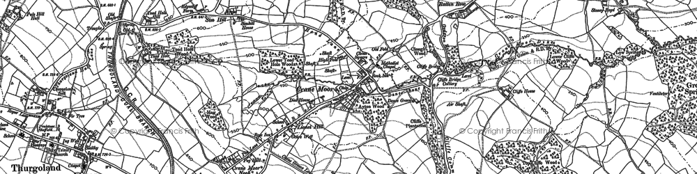 Old map of Lane Royds Park in 1891