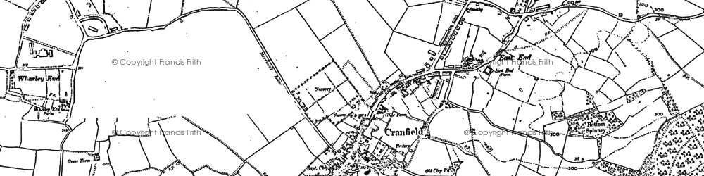 Old map of East End in 1882