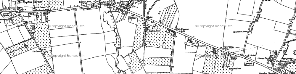 Old map of Cranford in 1894