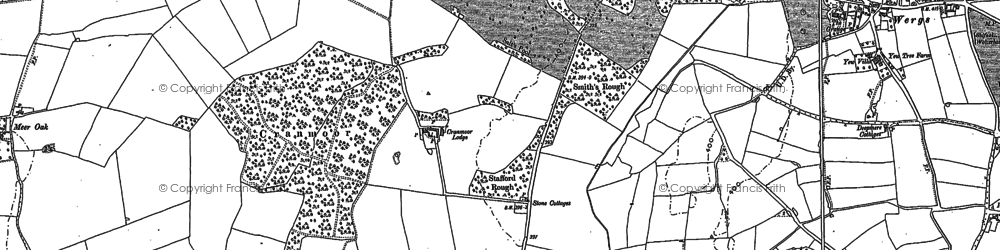Old map of Wrottesley Park in 1886