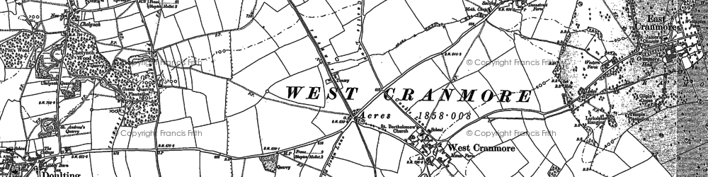 Old map of Cranmore in 1884