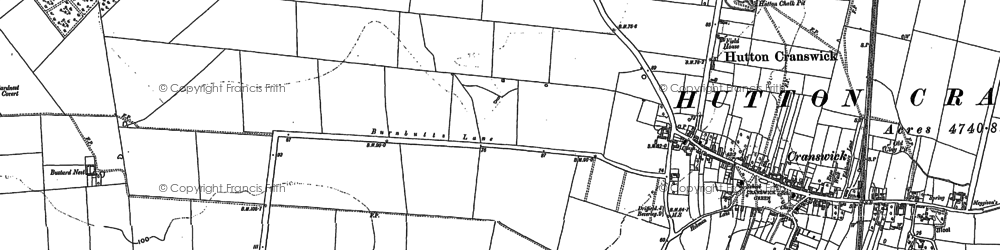 Old map of Cranswick in 1890