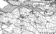 Old Map of Crantock, 1906