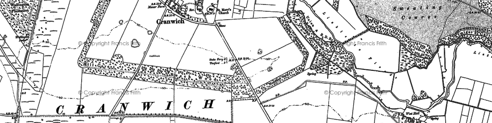 Old map of Cranwich in 1883