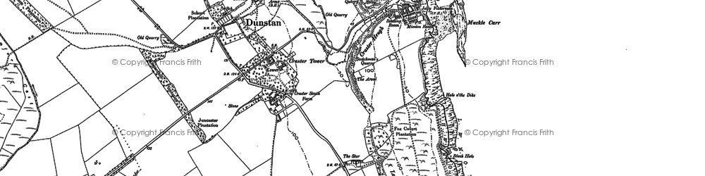 Old map of Craster in 1896