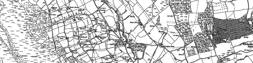 Old map of Auburys in 1887