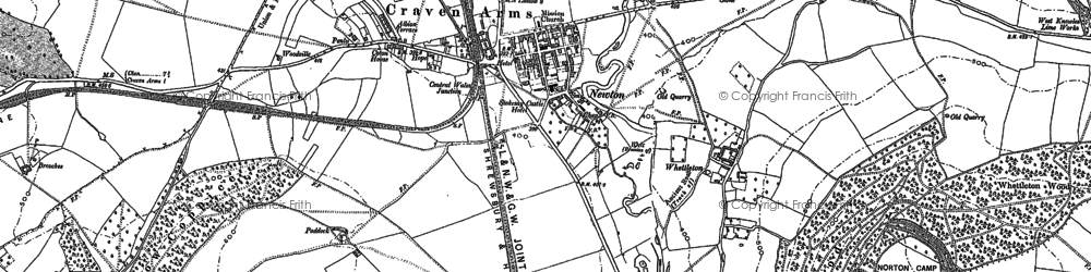Old map of Craven Arms in 1902