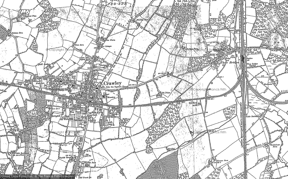 Map of Crawley, 1895 - 1909
