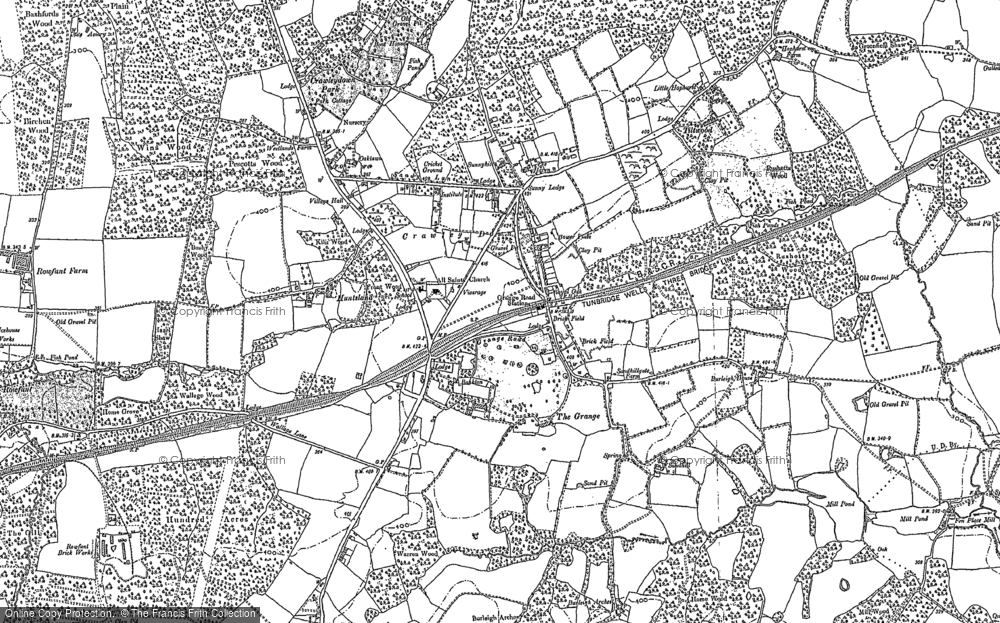 Map of Crawley Down, 1909 - 1910