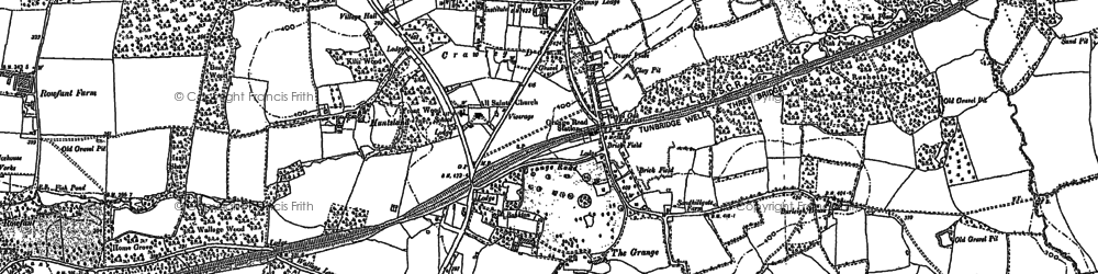 Old map of Crawley Down in 1909