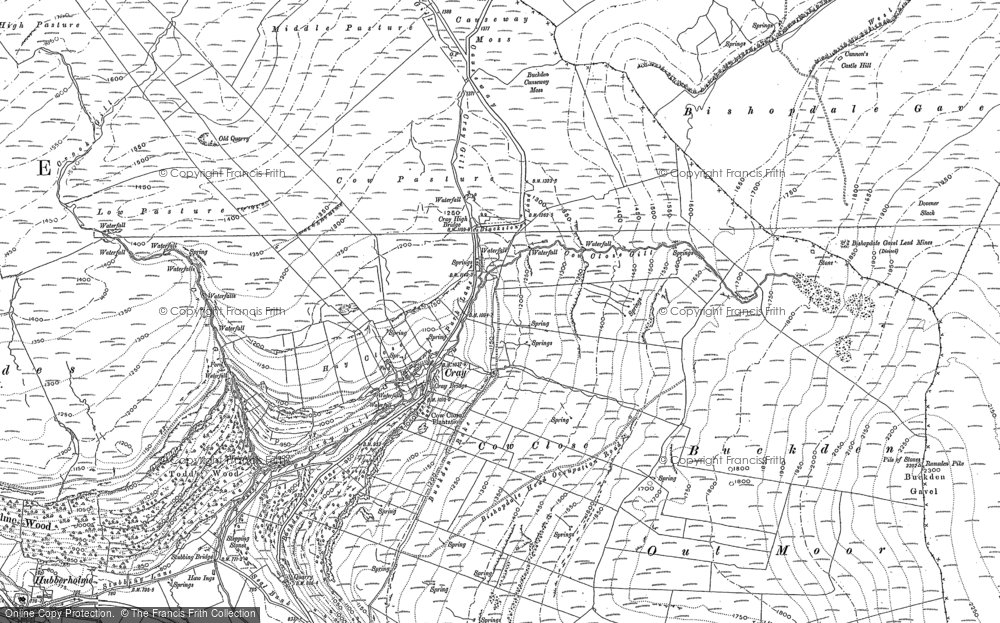 Old Map of Historic Map covering Todd's Wood in 1907