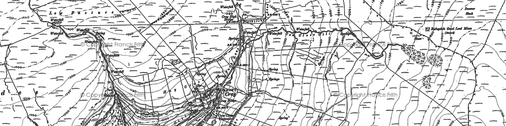 Old map of Buckden in 1907