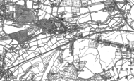 Old Map of Crayford, 1895 - 1907