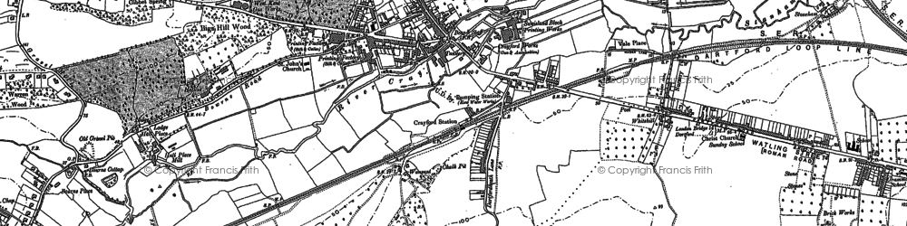 Old map of Crayford in 1895