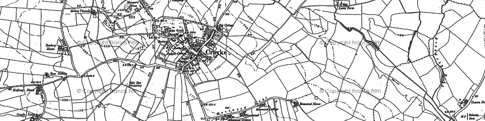 Old map of Crayke in 1888