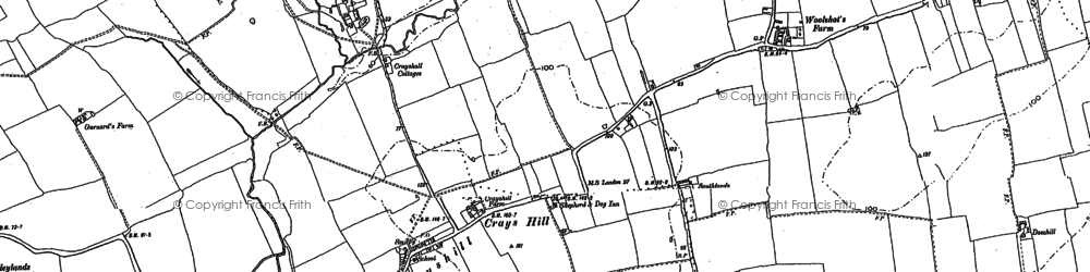 Old map of Crays Hill in 1895