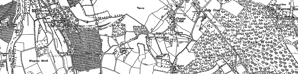 Old map of Yeldall Manor in 1910