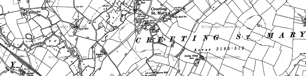 Old map of Woolney Hall in 1884