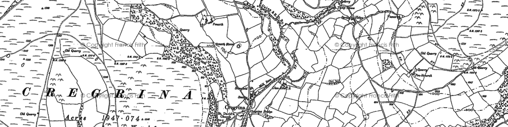 Old map of Wylfre in 1902
