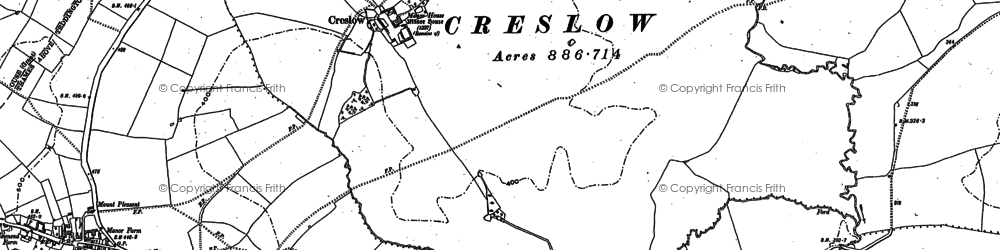 Old map of Creslow in 1898