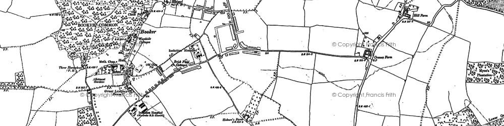 Old map of Cressex in 1897