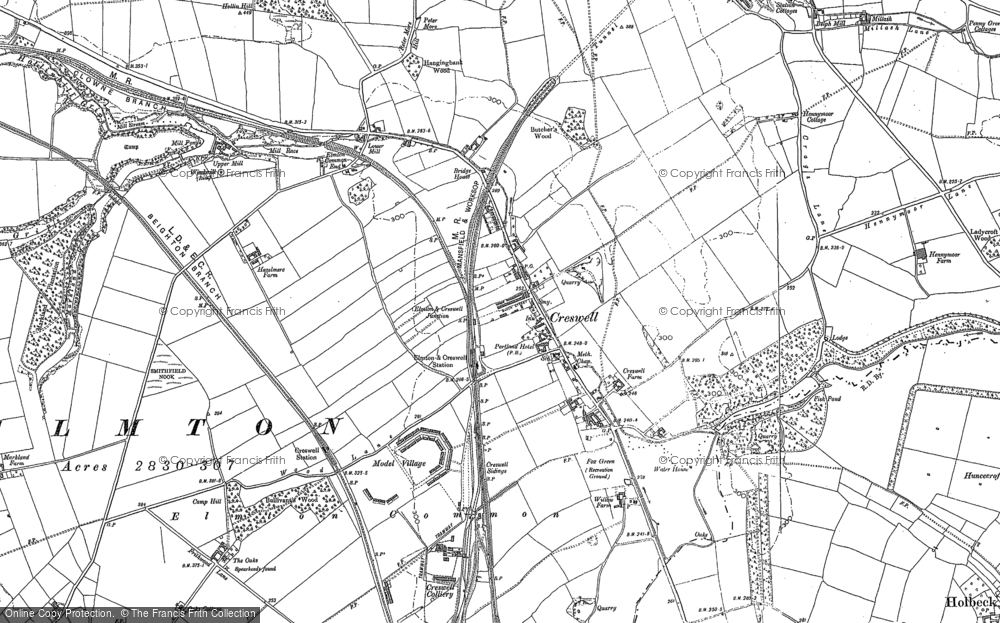 Old Map of Creswell, 1884 - 1897 in 1884